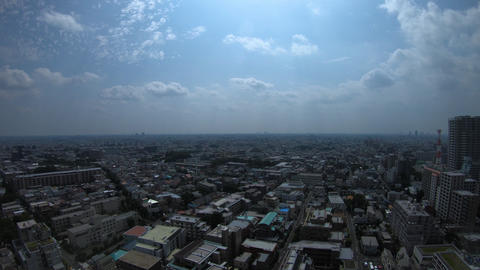 A timelapse of panoramic view at the urban city in Nerima Tokyo daytime wide Footage