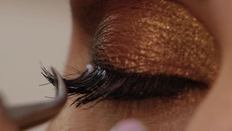 Eyelash Extension Procedure Footage