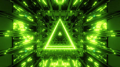 green glowing holy wireframe 3d illustration background wallpaper with shine vj Animation