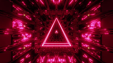 red glowing holy wireframe 3d illustration background wallpaper with shine vj Animation