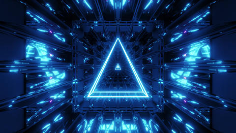 blue glowing holy wireframe 3d illustration background wallpaper with shine vj Animation