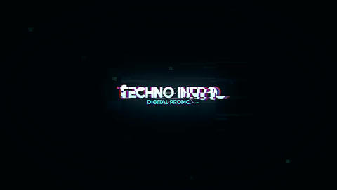 Digital Logo Opener After Effects Template