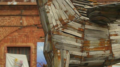 Wooden Trojan Horse Footage
