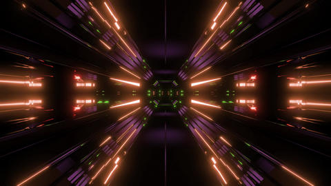dark space scifi tunnel background background 3d illustration vj loop Animation