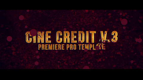 Cine Credit V 3 Motion Graphics Template