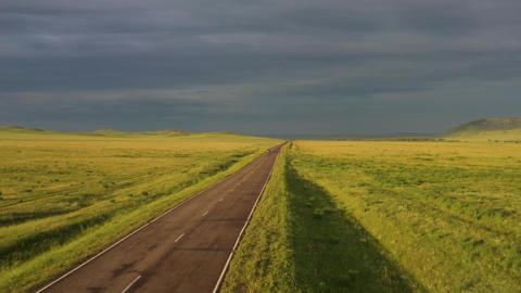 Country road in Siberia 003 Live Action