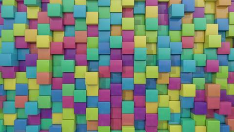 3d animated cube random color Animation