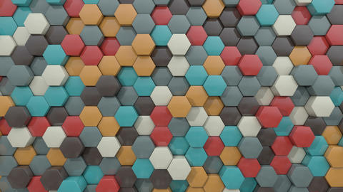 3d animated hexagon pleasing color GIF