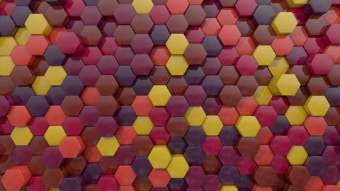 3d animated hexagon dark flame color GIF