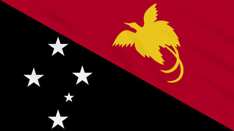 Papua New Guinea flag waving cloth background loop Animation