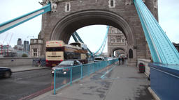 traffic in tower bridge in london Footage