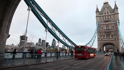 traffic in tower bridge in london Footage