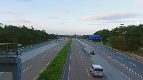 Four-way Autobahn near Frankfurt airport Footage