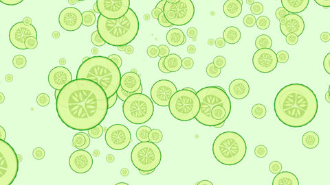 seamless loop of cucumbers falling down Animation