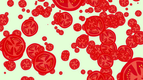 seamless loop of tomatoes falling down Animation