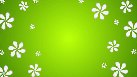 Green abstract summer flowers video animation Animation