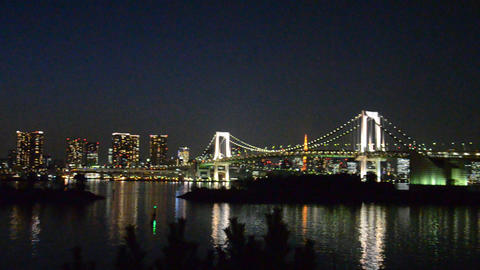 view of the bay of tokyo in the evening Footage