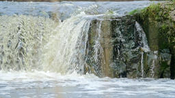Waterfall during spring floods Footage