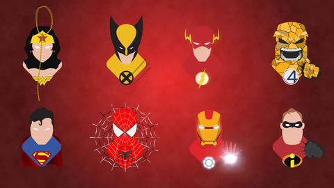 Superhero Icons After Effects Template
