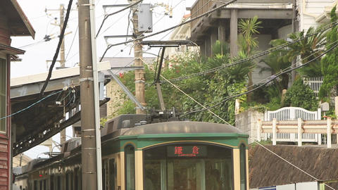 Railway of Japan, Enoshima Electric Railway/江ノ島電鉄、七里ガ浜駅出 Footage