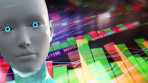 4K Artificial Intelligence Algorithm Trading Stock Market Concept 1 Animation