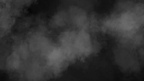Gray haze animation in motion on black background HD Footage