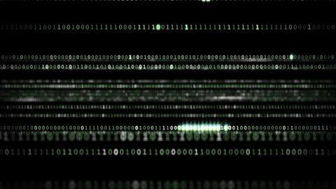 Moving numbers in the program , transmission of encrypted information HD Footage
