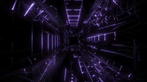 purple wireframe design with nice reflection 3d rendering background wallpaper Animation