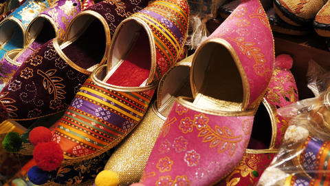 Turkish traditional shoes close up Live Action