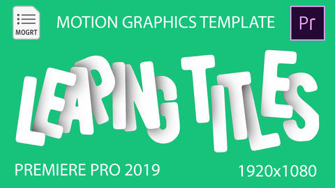Leaping Titles Motion Graphics Template