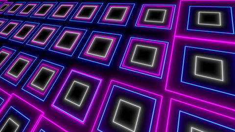 Psychedelic light event led neon looped background Animation