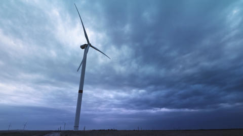Wind turbines produce environmental energy. The concept…, Live Action