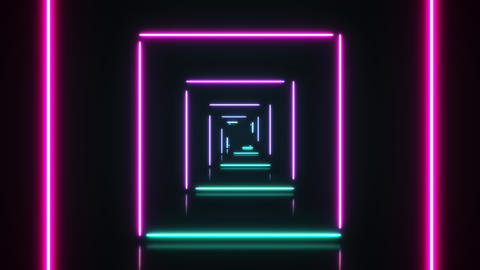 Abstract background green pink spectrum looped animation fluorescent ultraviolet light, glowing neon Animation