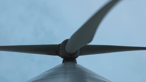 Close-up: Wind turbines produce environmental energy. The…, Live Action