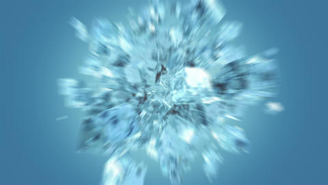 Exploding frosted ice cube Animation