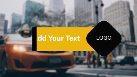 Taxi Lower Thirds Premiere Pro Template