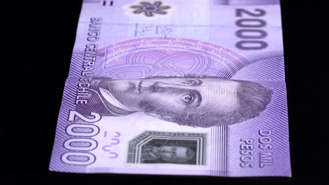 Currency Scan Low Depth of Field Chile 2000 front Footage
