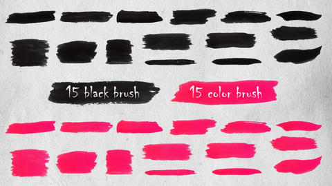 Brush Strokes Elements After Effects Template