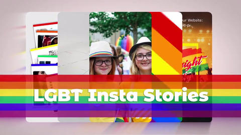 LGBT Instagram Stories After Effects Template