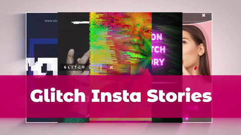 Glitch Instagram Stories After Effects Template