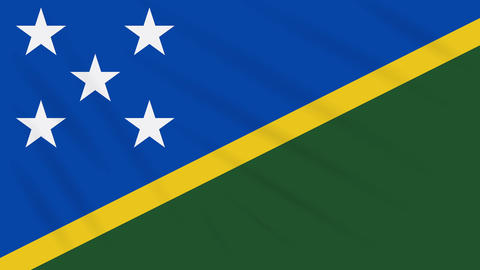 Solomon Islands flag waving cloth, background loop Animation