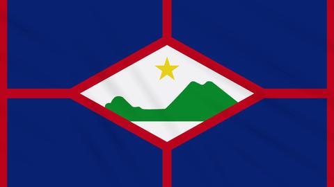 Sint Eustatius flag waving cloth, background loop Animation