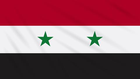 Syria flag waving cloth, background loop Animation
