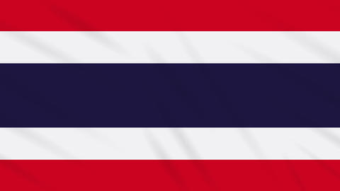 Thailand flag waving cloth, background loop Animation