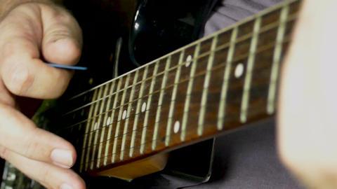 Slomo guitar playing 74 Footage