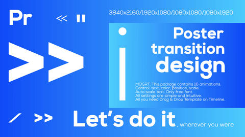 Poster Transitions Motion Graphics Template