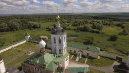 Orthodox Christian monastery.Aerial view Footage