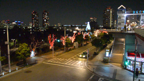a view from odaiba in the night (tokyo) Stock Video Footage