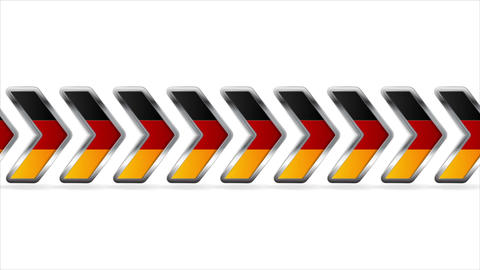 Metallic arrows with German flag colors video clip Animation