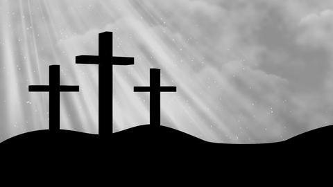 3 Crosses-Worship 4 Loopable Background Animation